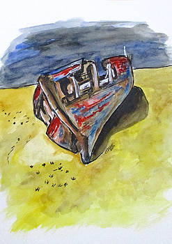 Junk Fishing Boat by Clyde J Kell