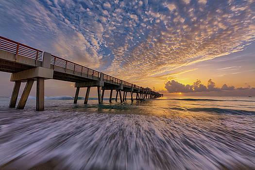 Juno Beach Pier at Sunrise by Claudia Domenig