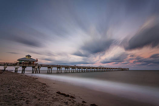 Juno Beach Pier in the Evening by Claudia Domenig