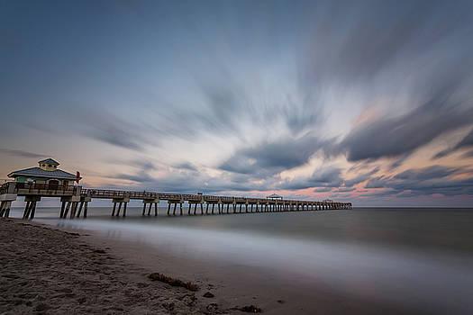 Juno Beach Pier in the Evening II by Claudia Domenig