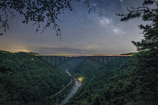 Just a Glimpse of the Milky Way by Jeremy Clinard
