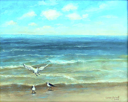 Just Beach Birds by Nancy Heindl