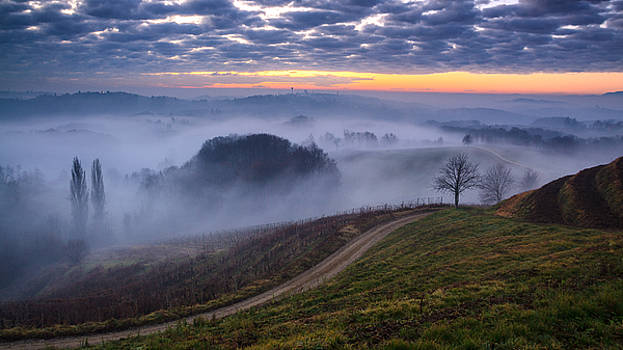 Just before sunrise by Davorin Mance