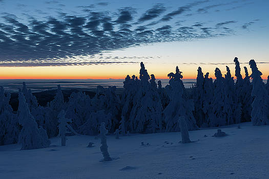 Just before sunrise on the Brocken in the Harz Mountains by Andreas Levi