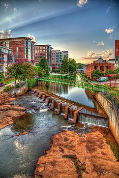 Reid Callaway - Just Before Sunset Reedy River Falls Park Greenville South Carolina Art