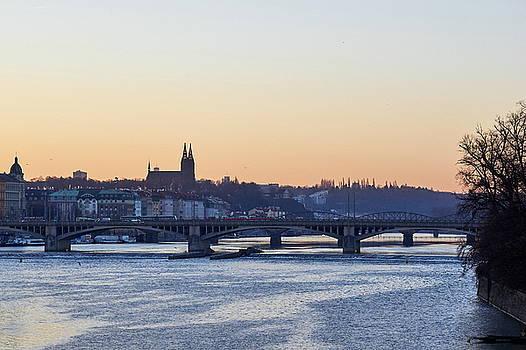 Just before the Sunrise by the Vltava. Prague spring 2017 by Jouko Lehto