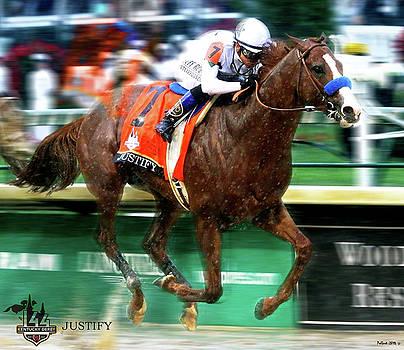 Justify, jockey Mike Smith, 144th Kentucky Derby by Thomas Pollart