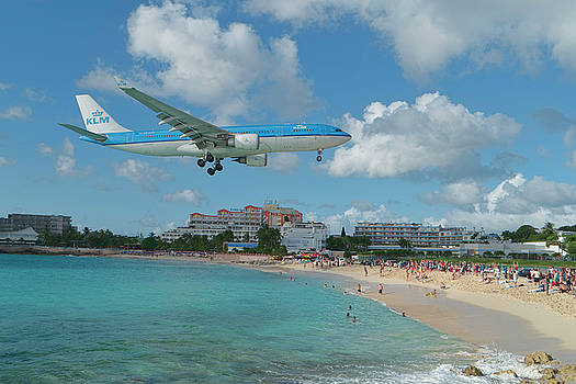 K L M at St. Maarten Airport by David Gleeson