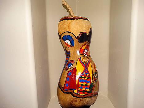 Kachina Gourd by Sandra Durning