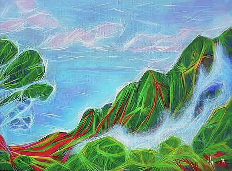 Kalalau Mists by Angela Treat Lyon