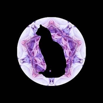 Kaleidoscope Cat Silhouette by Deleas Kilgore