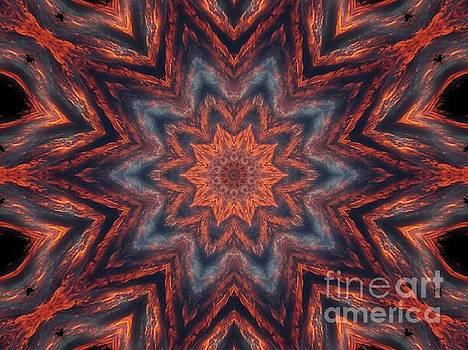 Kaleidoscope - Fire Swept Sky  by Christy Ricafrente