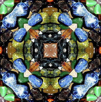 Kaleidoscope view of quartz stones by Jesus Nicolas Castanon