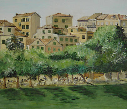 Kampielo -  old Corfu Town  by Anna Witkowska
