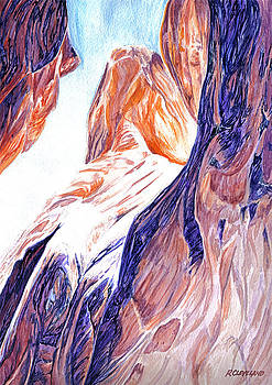 Kanarraville-Falls-Slot-Canyon 1 by Richard W Cleveland