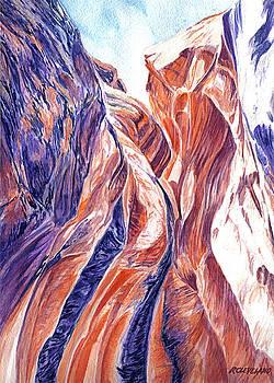 Kanarraville-Falls-Slot-Canyon 3 by Richard W Cleveland