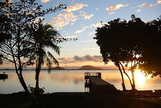 Kaneohe Sunrise Pier by Halle Treanor