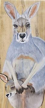 Kangaroo w/Joey by Debbie LaFrance