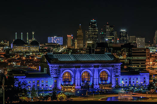 Kansas City in Royal Blue by Lisa Plymell