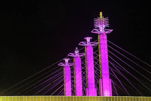 Kansas City Pylons In Pink by Steven Bateson