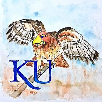 Kansas Jayhawks by Elaine Duras