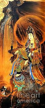 Peter Gumaer Ogden - Kanzeonbosatsu Merciful Goddess by Kawanabe Kyosai Japanese Meiji Period
