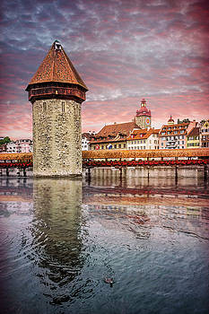 Kapellbrucke Lucerne Switzerland  by Carol Japp