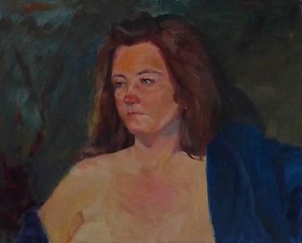 Karen in Blue Robe by Irena Jablonski