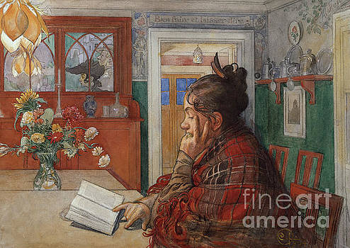 Karin reads by Carl Larsson
