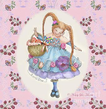 Karli Star With Butterflies And Raspberries in Pink by Nancy Lee Moran