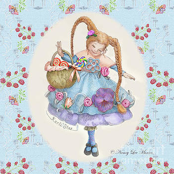 Karli Star with Butterflies and Raspberries by Nancy Lee Moran