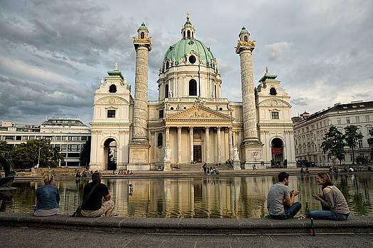 Karlsplatz Evening Vienna by Eric  Bjerke Sr