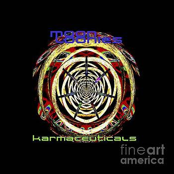 Karmaceuticals t shirt  by Pete Moyes