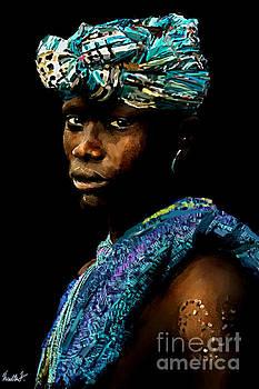 Karo Tribe Ethiopia Man by Vannetta Ferguson