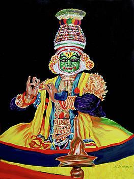 Kathakali Krishna by Sankaranarayanan