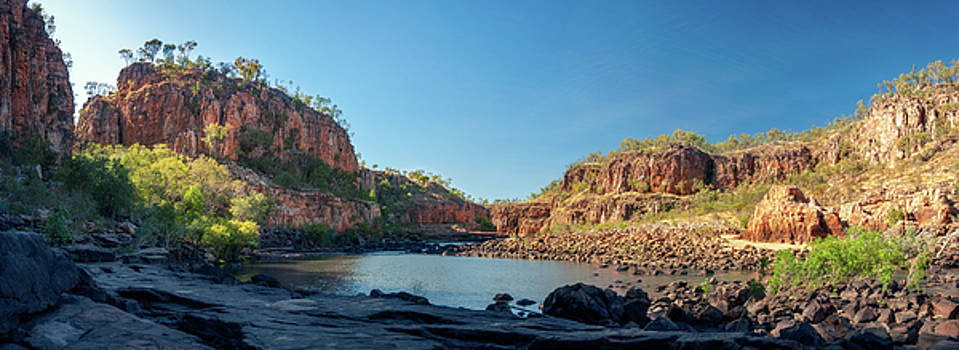 Katherine River Gorge panorama in Nitmiluk National Park, Australia by Daniela Constantinescu
