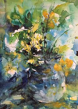 Kathleen's Yellow Flowers by Robin Miller-Bookhout