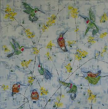 Kathy's Hummingbirds by Georgia Donovan