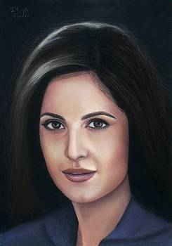 Katrina Kaif - pastel by Vishvesh Tadsare
