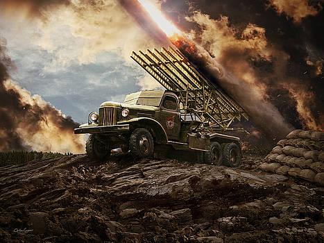 Katyusha soviet rocket launcher by Anton Egorov