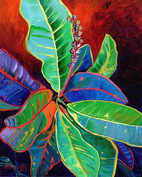 Kauai Croton Leaves 2 by Marionette Taboniar