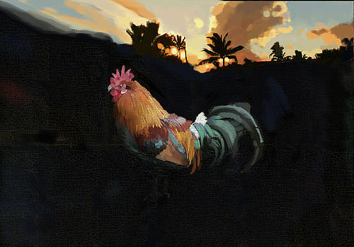 Kauai Rooster by Brad Burns