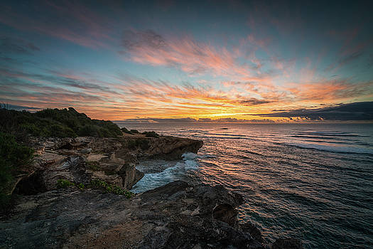 Kauai Seascape Sunrise by James Udall