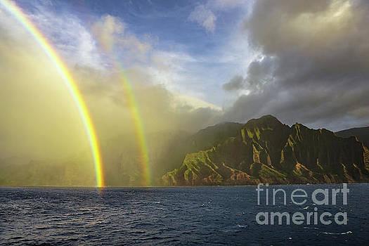 Kauai Sunset Rainbow by Dave Matchett