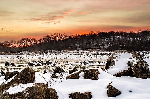 Jeff Phillippi - Kaw River Icy Sunrise