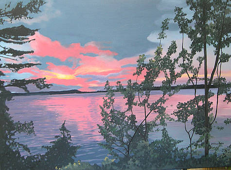 Kawartha Sunset by Joan McGivney