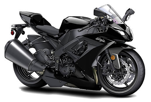 Kawasaki Ninja Black Motorcycle by Maddmax