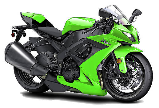 Kawasaki Ninja Green Motorcycle by Maddmax