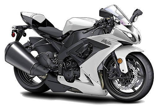 Kawasaki Ninja White Motorcycle by Maddmax