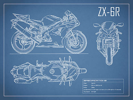 Mark rogan artwork collection car blueprint collection mark rogan kawasaki ninja zx 6r malvernweather Images
